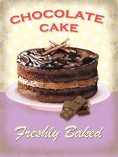 Chocolate Cake APPENA Baked, Choc cucina retrò Calamita da frigorifero