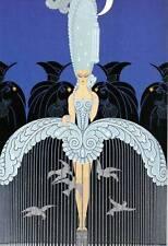 """Vintage ORIGINAL Impresión de Art Deco ERTE """"su secreto admiradores"""" moda placa de libro"""