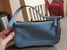 Coach Small Blue Leather Bag