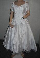 NEU Brautkleid Gr.38  vorne kurz/hinten lang+Handschuhe+Kopfschuck+Tasche