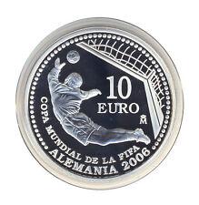 España - 10 euro 2003-fútbol-WM 2006-portero-plata-prestigio