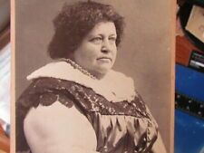 1880's Kendallville Indiana circus fat lady cabinet photograph