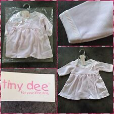 TINY DEE BABY GIRL DRESS FIT 8-12LB PINK STRIPE NEW BABY COTTON DRESS GIFT IDEA
