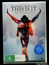 MICHAEL JACKSON'S This Is It DVD. Brand New & Sealed