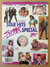 Star Hits Magazine Summer Special 1987 Billy Idol Beastie Boys Bangles Bon Jovi