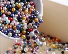 500X Multicolor Charm Round Pearl Imitation Acrylic Beads 4mm