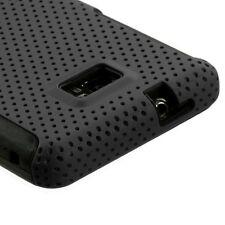 Black MESH Hybrid Hard Silicone Rubber Gel Skin Case AT&T Samsung Galaxy S II 2