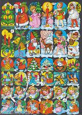 Christmas Santa Cherub Gnomes Retro Collage Art Alter Paper Scrap Ef German