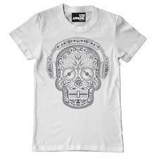 Technics / DMC T-Shirt - Skull n Phones Weiss / White (Size S-XXL) A19W