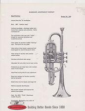 VINTAGE AD SHEET #2519 - 1970s BUESCHER MUSICAL INSTRUMENT - ARISTOCRAT CORNET