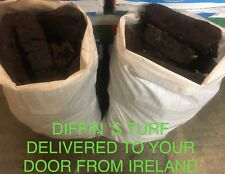APPROX30kg Irish Fire Peat Burning Turf Fuel Coal Hand Cut Turf log Peat Heat