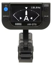 Korg AW-OTG Clip on Tuner Gitarre OLED-Display Akku Stimmen Kalibrieren Batterie