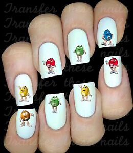 M&M'S COULEURS  Autocollant Stickers ongles nail art manucure water decal