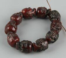 Chinese Exquisite Handmade Skull Carving OX Horn Bracelet