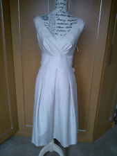 BNWT WOMENS GIRLS M&S IVORY CHAMPAGNE FORMAL PROM BRIDESMAID DRESS SIZE 10