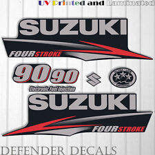 Suzuki 90 hp Four Stroke outboard engine decal sticker set kit reproduction 90HP