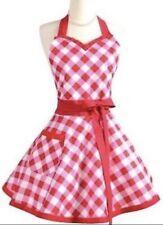 *NEW* 50s Retro Vintage Apron Red/White Polka Dot Hostess Sexy Checkered