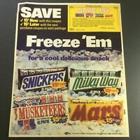 VTG 1983 Milky-Way, Snickers, Mars & 3 Musketeers Chocolate Bars Print Ad Coupon