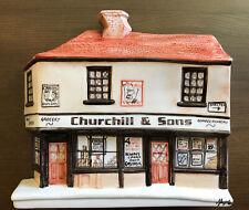 More details for rare hazle ceramics nation of shopkeepers corner plaque ltd ed churchhill & sons