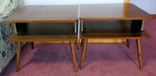 PAIR of Two Vintage Mid Century Modern 1950-1960 End Tables Danish Style
