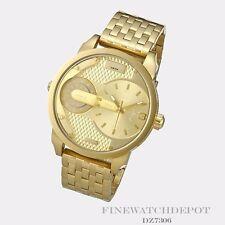 Authentic Gold Tone Plating Diesel Mini Daddy Men's Watch DZ7306
