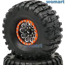 2Stk RC 2.2 Crawler Reifen AR Sour Tire 135mm & Alloy 2.2 Beadlock Felgen Wheels