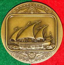 CELEBRITIES BOATS/VENEZIAN GALLÉ BRONZE MEDAL BY J.ALVES