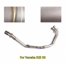 Motorcycle Full Exhaust System Front Connect Pipe Slip on R3 R25 For Yamaha