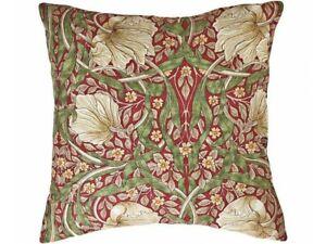 William Morris Cushions Pimpernel Red