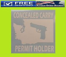 WASHINGTON CONCEALED CARRY GUN PERMIT HOLDER STATE VINYL DECAL STICKER 2nd Amend