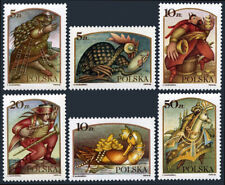 Poland 2760-2765, Mnh. Folk and Fairy Tale Legends, 1986