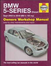 BMW 5-SERIES E60 E61 520d 525d 530d DIESEL (2003-10) OWNERS WORKSHOP MANUAL