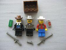 Lego WESTERN Cowboy Bandit MINIFIGURE LOT of 3 Sheriff 6755 6761 6762 6764 6765