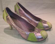 diesel line green lilac purple stiletto high heels court shoes UK 8 EUR 41