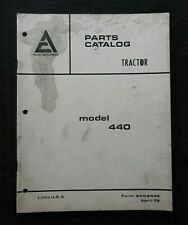 1973 1977 Allis Chalmers Model 440 Tractor Parts Catalog Manual Steiger Built