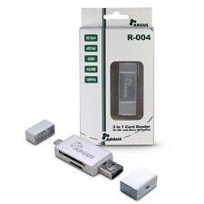 Inter-Tech Argus Cardreader R-004 ALU für iPhone/iPad/iPod, Android + PC Geräte