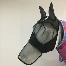 Horse Mesh Net Mask Bonnet Veils Face Cover w/ Ear Nose Anti Fly Eye Saver,L
