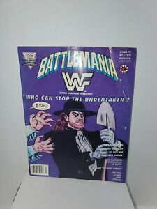 BATTLEMANIA Issue #4 - December 1991 - WWF Who Can Stop the Undertaker? - RARE