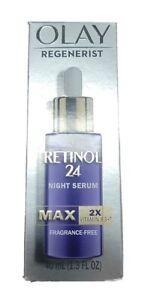 Olay Regenerist MAX Retinol 24 Night Serum Vitamin B3, 1.3 oz, New