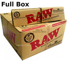 Full Box Raw Connoisseur King Size Slim Rolling Papers With Filter Tips Full Box