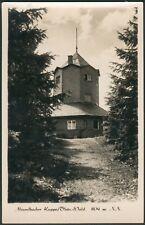 Postkarte Meuselbacher Kuppe Thür.-Wald s/w, ungelaufen, 1956 RARE