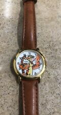 Disney TIMEX Tigger ( POOH ) Quartz Wrist Watch Analog Leather Band