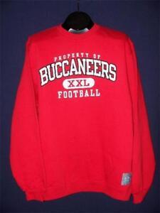 "Reebok Gridiron Classic Tampa Bay ""Property Of Buccaneers Football"" Sweatshirt L"