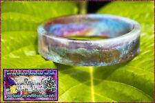 Flat Resin Bangle, charmeleon shimmer with metalic flakes. 6.4cm inner cir.