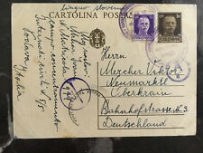 1942 Padova Italy Concentration Camp postcard Cover to Germany Slovenia