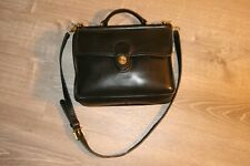 Vintage COACH Willis Black Leather Turnlock Flap Crossbody Messenger Bag 9927