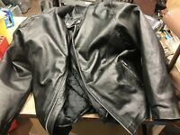 Hot Leathers Mens Classic Leather Motorcycle Jacket -58  ( Size 58 )