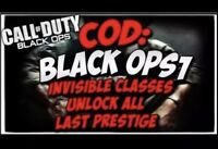 🕹🌟🌟Black Ops 1 BO1 Modded Account Recovery/ Hacked Account PS3🌟🌟🕹