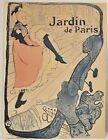 Lambert Studios Lithograph Poster Henri de Toulouse Lautrec Jane Avril on Board