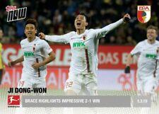 2018-19 Topps NOW Bundesliga 22 Alfred Finnbogason Club Record Goal Scorer PR 62